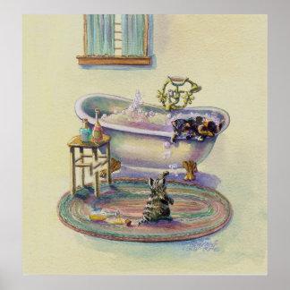 KITTENSin the BATHTUB by SHARON SHARPE Poster