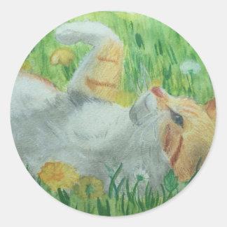 kittie_siesta classic round sticker