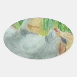 kittie_siesta oval sticker