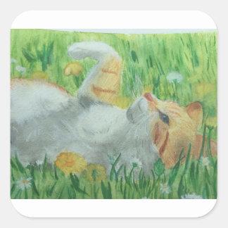 kittie_siesta square sticker