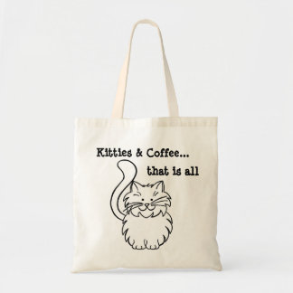 Kitties & Coffee... That is all Budget Tote Bag