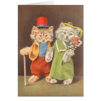 Kitties Putting on the Ritz, Card