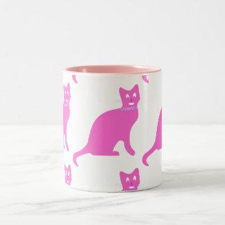 Kitties want a cure, too Two-Tone coffee mug