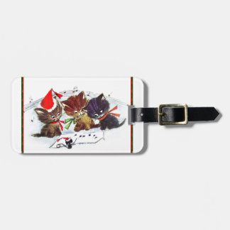 Kitties with Maestro Mouse Travel Bag Tags