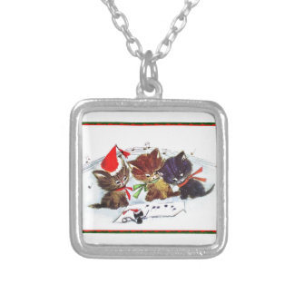 Kitties with Maestro Mouse Necklaces