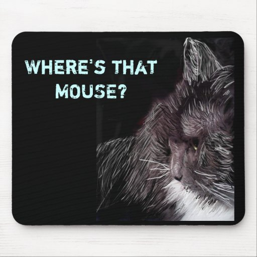 kitty 1, Where's that MOUSE? Mousepad