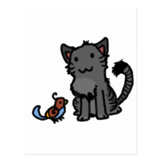 Kitty and Birdie Postcard