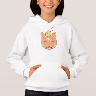 Kitty and Chickadee friends little girl sweatshirt
