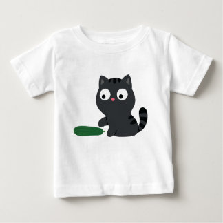 Kitty and Cucumber Illustration Baby T-Shirt