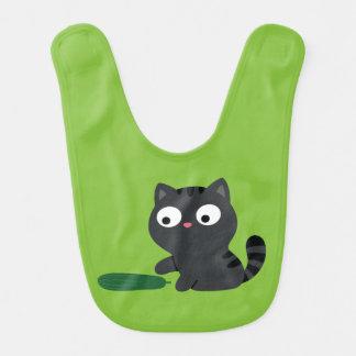 Kitty and Cucumber Illustration Bib
