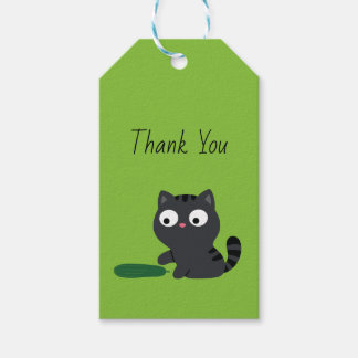 Kitty and Cucumber Illustration Gift Tags