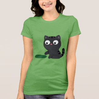Kitty and Cucumber Illustration T-Shirt