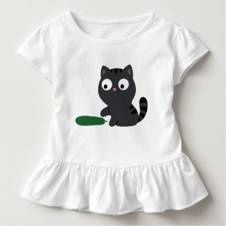 Kitty and Cucumber Illustration Toddler T-shirt