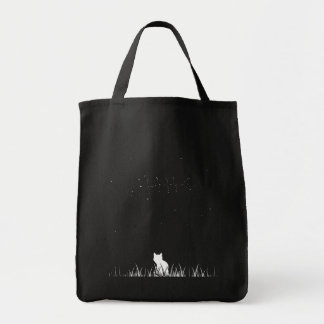 kitty and the stars tote grocery tote bag