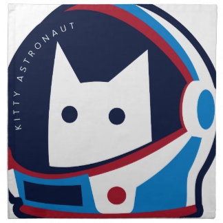 Kitty Astronaut Napkin