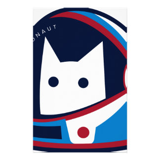 Kitty Astronaut Stationery
