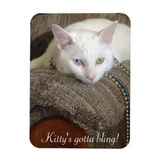 Kitty Bling Photo Magnet