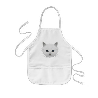 Kitty blue eyes kids apron