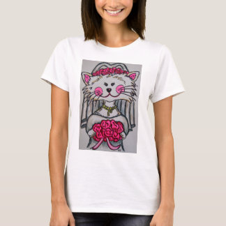 Kitty Bride To Be Tshirt with White Background