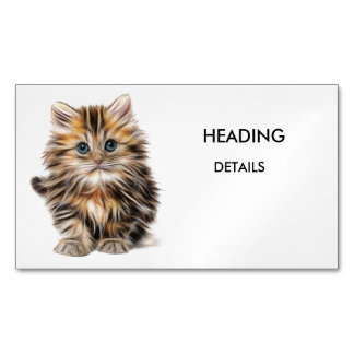 KITTY BUSINESS CARD MAGNET