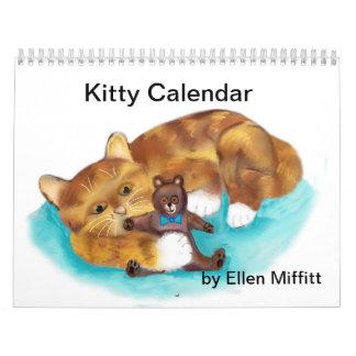 Kitty Calendar - Digital Drawings - Ellen Miffitt