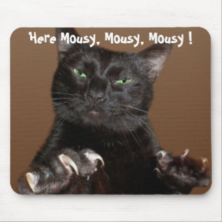 Kitty Calls to Computer Mouse Mouse Pad