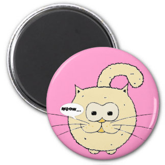 Kitty-cat 2 Inch Round Magnet