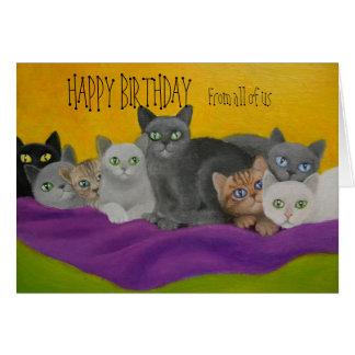 KITTY CAT BIRTHDAY CARD