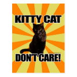 Kitty Cat Don't Care Post Card