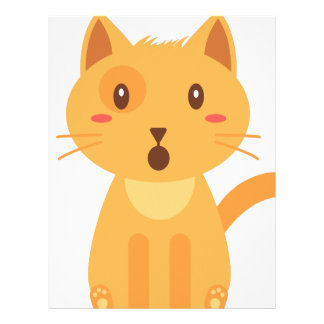 Kitty Cat Expressions Face Shirt Letterhead