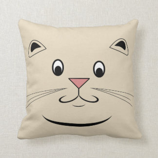 Kitty Cat Face Throw Pillow