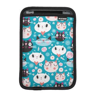 Kitty Cat Faces iPad Mini Sleeves