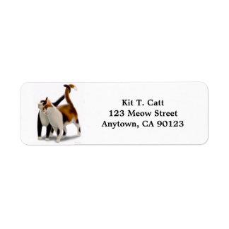 Kitty Cat Friends Customizable Return Address Label