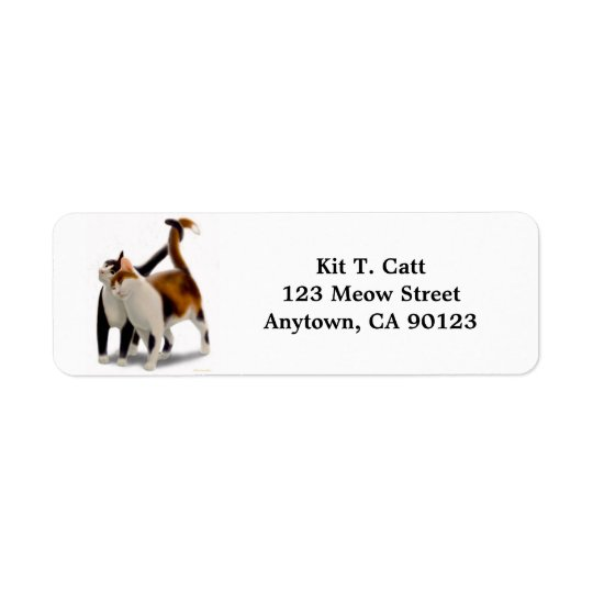 Kitty Cat Friends Customizable Return Address Label