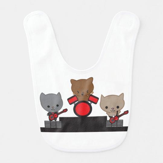 Kitty Cat Kawaii Band Baby Bibs