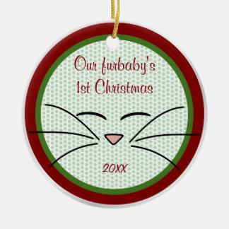 Kitty Cat Keepsake Photo Ornament
