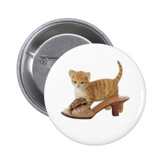 Kitty Cat Kitten Button
