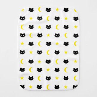 Kitty Cat Moon And Stars Burp Cloth