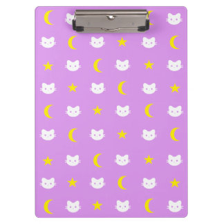 Kitty Cat Moon And Stars Clipboard