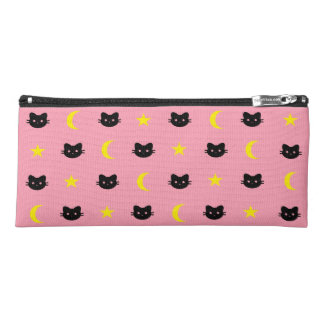 Kitty Cat Moon And Stars Pencil Case
