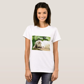 Kitty Cat Nappy Time T-Shirt