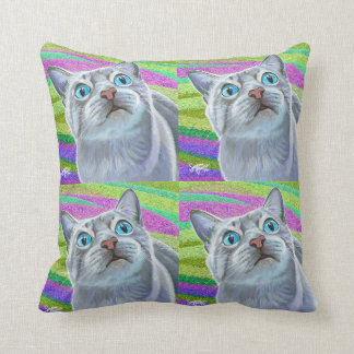 Kitty Cat Pop Art Pillow Personalized!