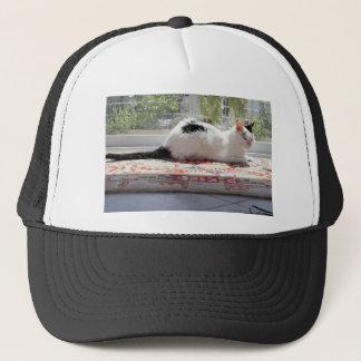 Kitty Cat Relaxing in a Sunny Window Trucker Hat