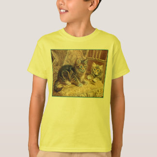 Kitty Cat Shirts - Victorian Vintage Art