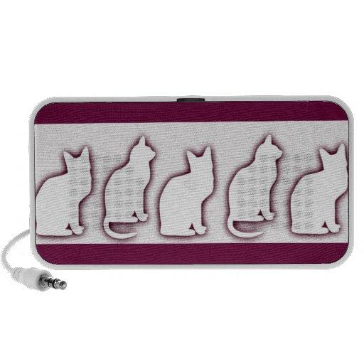 Kitty Cat Silhouettes Art OrigAudio Doodle Speaker