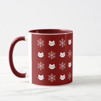 Kitty Cat Snowflake Mug