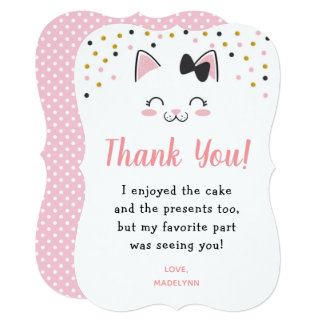 Kitty Cat Thank You Cards