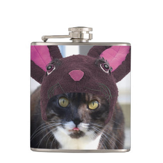 Kitty Cat Wearing Bunny Ears Flasks