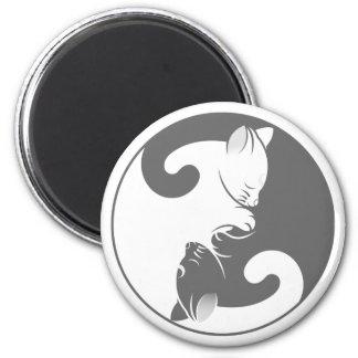 Kitty Cat Yin Yang | Gray Magnet