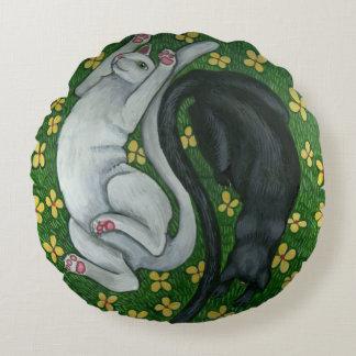 Kitty Cat Ying/Yang pillow